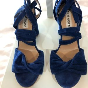 Steve Madden Blue heels, size 8